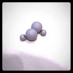 3/$15 Grey Ball Double Sided Earring